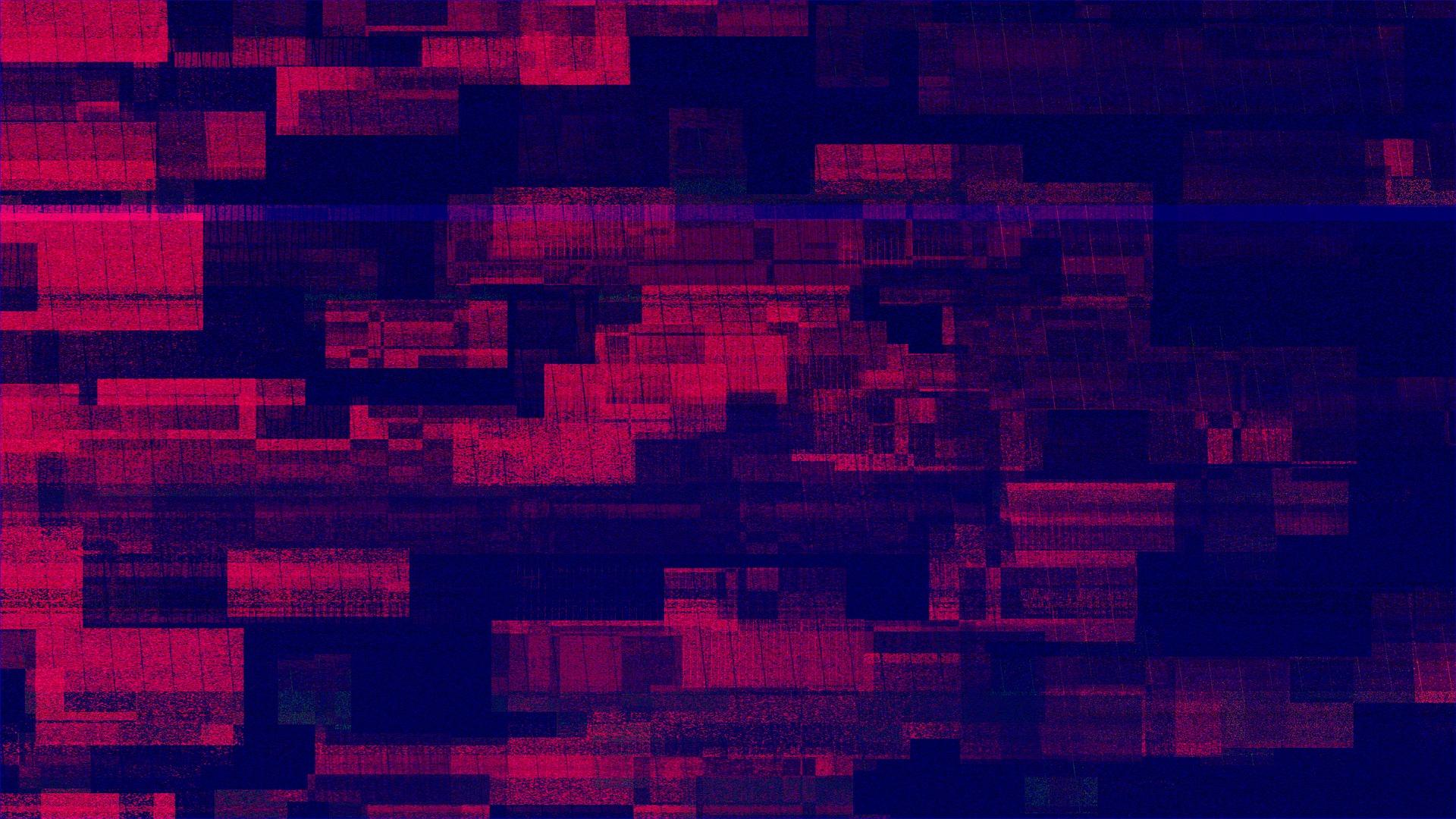 Red Glitch Pattern